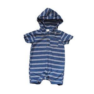 Tucker + Tate striped hooded romper 3M